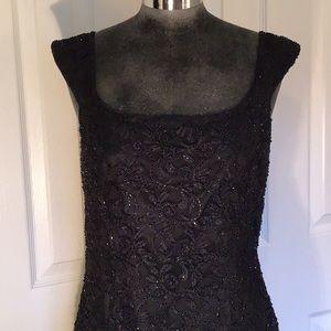 Marina by Marina Bresler Black Lace Dress
